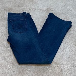 "7 For All Mankind ""A"" pocket Dark Denim"